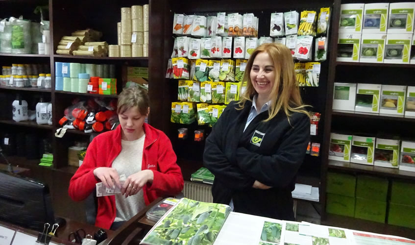 Purchasing more seeds from the Agri-Valadex shop in Chisnau.
